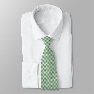 緑の小さいギンガムの点検-斜めパターン オリジナルタイ
