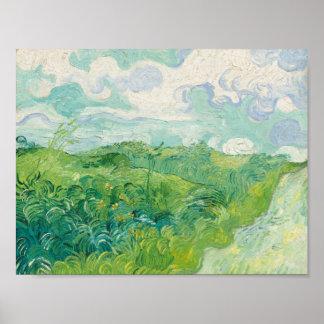 緑の小麦畑、Auvers 1890年(フィンセント・ファン・ゴッホ ポスター