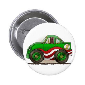 緑の市販車ピン 5.7CM 丸型バッジ