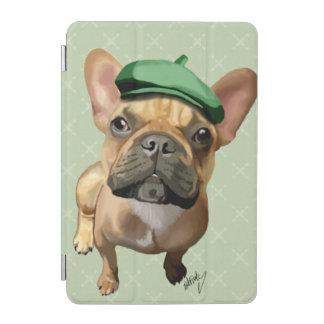 緑の帽子を持つブラウンのフレンチ・ブルドッグ iPad MINIカバー