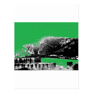 緑の干し草 ポストカード
