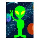 緑の平和宇宙人 ポストカード