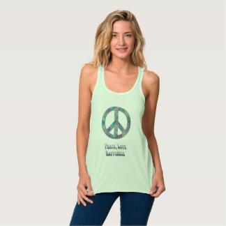 緑の平和愛幸福 タンクトップ
