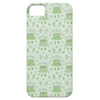 緑の幸せなバニー iPhone SE/5/5s ケース