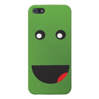 緑の幸せな顔 iPhone SE/5/5sケース