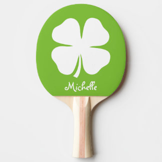 緑の幸運なクローバーの卓球の卓球ラケット 卓球ラケット
