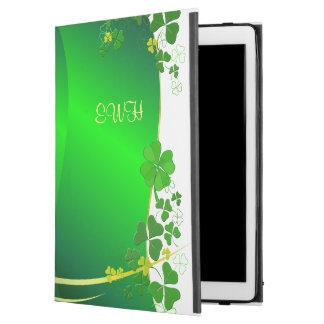 """緑の幸運なシャムロックあなたのモノグラム iPad PRO 12.9"""" ケース"""
