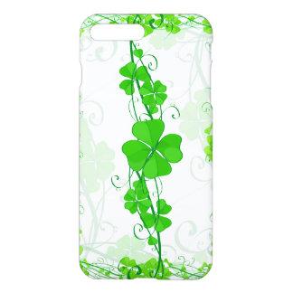 緑の幸運なシャムロック iPhone 8 PLUS/7 PLUSケース
