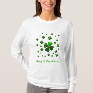 緑の幸運なシャムロック Tシャツ