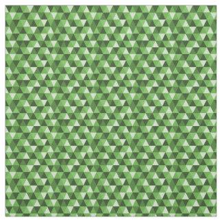 緑の幾何学的な三角形パターン生地 ファブリック