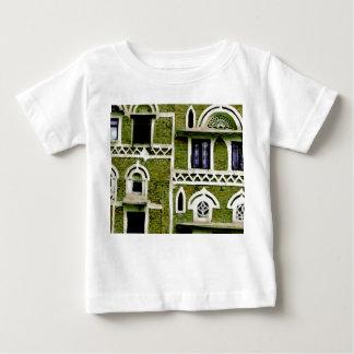 緑の建物の詳細 ベビーTシャツ