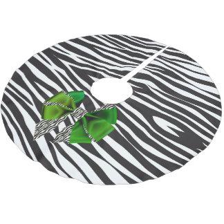 緑の弓が付いているおもしろいのファンタジーのシマウマのプリント ブラッシュドポリエステルツリースカート