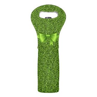 緑の弓との緑のグリッター ワイントート