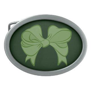 緑の弓ベルトの留め金 卵形バックル