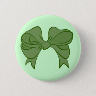 緑の弓ボタン 5.7CM 丸型バッジ