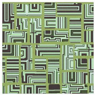緑の当惑パターン ファブリック