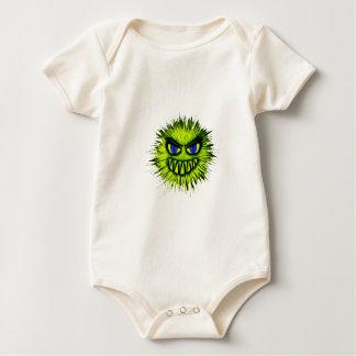 緑の微笑モンスター ベビーボディスーツ