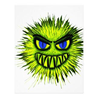 緑の微笑モンスター レターヘッド