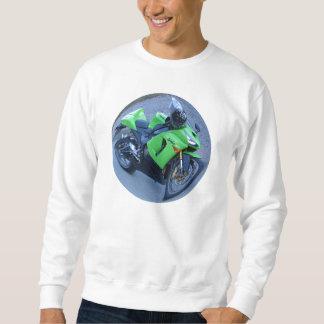 緑の忍者のオートバイのスエットシャツ スウェットシャツ