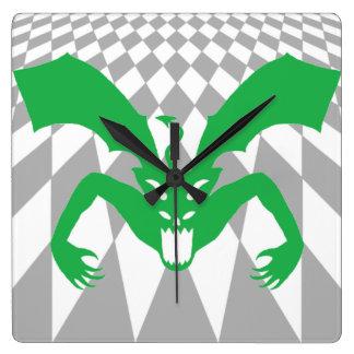緑の悪魔 スクエア壁時計