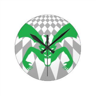 緑の悪魔 ラウンド壁時計