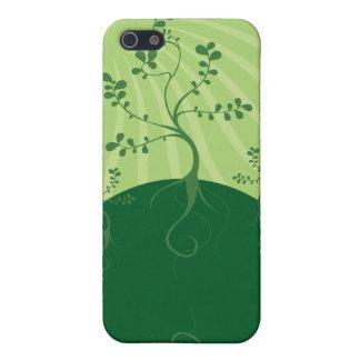 緑の惑星のベクトルデザイン iPhone 5 ケース
