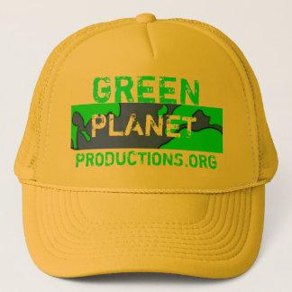緑の惑星のロゴ、緑、惑星、PRODUCTIONS.ORG キャップ