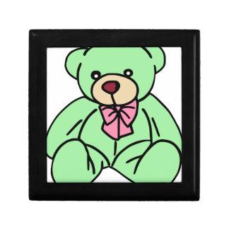 緑の愛らしいテディー・ベア ギフトボックス