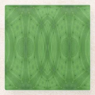 緑の抽象的で素晴らしい木 ガラスコースター