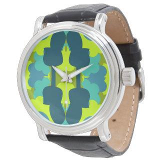 緑の抽象的なギター 腕時計