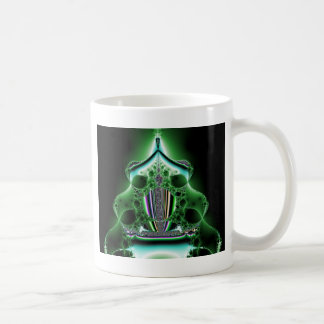 緑の抽象的なタワーの塊 コーヒーマグカップ