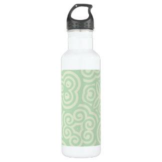 緑の抽象的なパターン ウォーターボトル