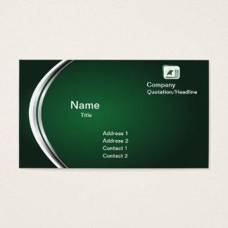 緑の抽象的な名刺のテンプレート 名刺