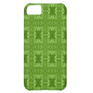 緑の抽象的な木製の十字 iPhone5Cケース