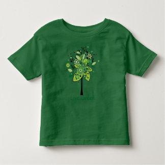 緑の抽象的な木 トドラーTシャツ