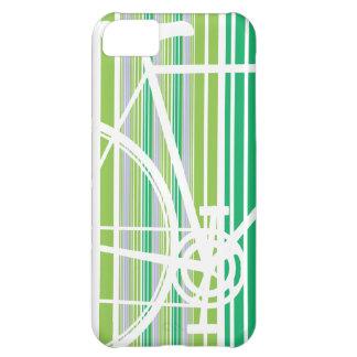 緑の抽象的な自転車のiPhone 5の箱 iPhone5Cケース