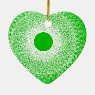 緑の抽象美術はあなたの心を吹きます セラミックオーナメント