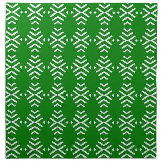 緑の抽象芸術との4の夕食ナプキンセット ナプキンクロス