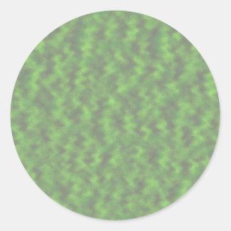 緑の抽象芸術 ラウンドシール