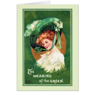 緑の挨拶状の身に着けていること カード