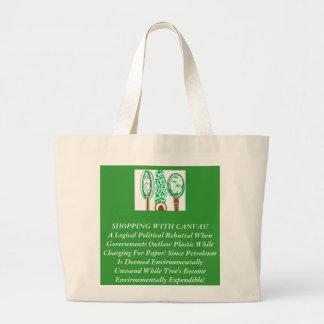 緑の政治の海賊行為 ラージトートバッグ