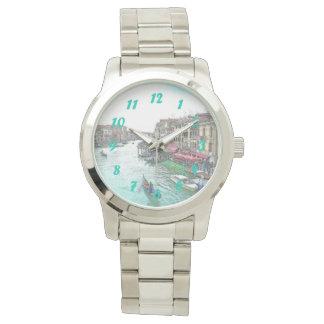 緑の数字の美しいベニスイタリア 腕時計