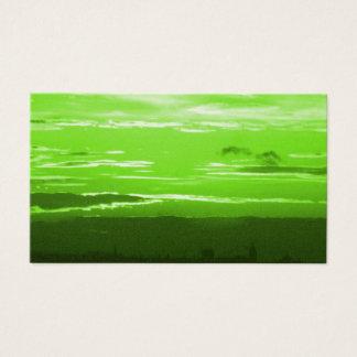 緑の日没の名刺 名刺