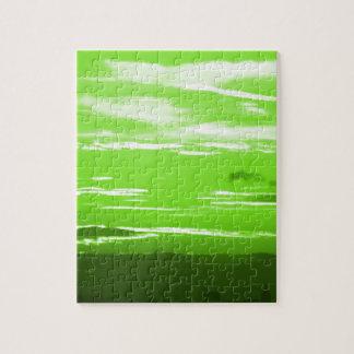 緑の日没 ジグソーパズル