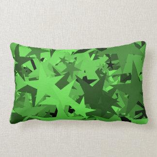 緑の星の枕 ランバークッション