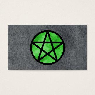緑の星形五角形の名刺 名刺