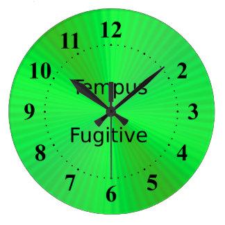 緑の時計のTempusの逃亡者 ラージ壁時計