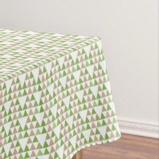 緑の木の緑葉カンランの緑の草木の三角形の幾何学的なモザイク テーブルクロス