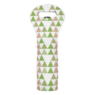 緑の木の緑葉カンランの緑の草木の三角形の幾何学的なモザイク ワイントート