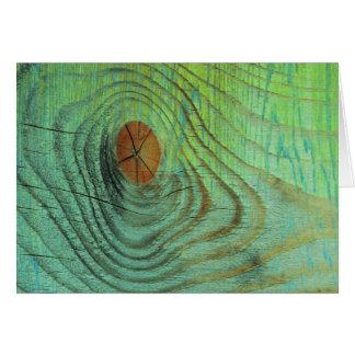 緑の木製の質 カード